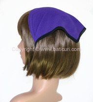 101-08 Italian pleated solid with Black border-Dk. purple